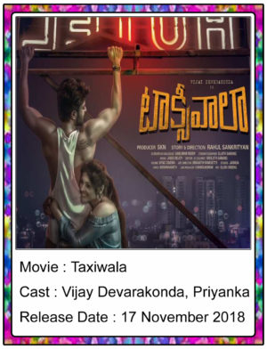 Taxiwala(2018) Telugu Full Movie Vijay Devarakonda, Priyanka