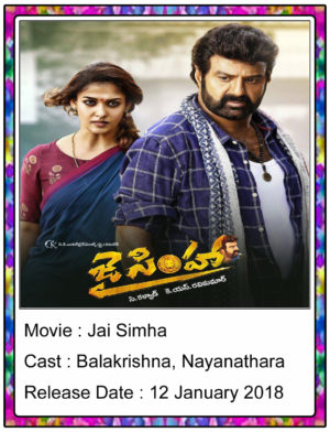Jai Simha (2018) Movie